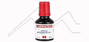 EDDING T25 TINTA PARA RELLENAR ROTULADOR PERMANENTE - ROJA