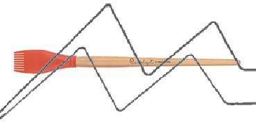 PRINCETON CATALYST PINCEL HOJA DE SILICONA FORMA 5 NARANJA 30 MM (30X44MM)