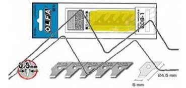 OLFA CUCHILLAS COB-1 (BLISTER CON 15 HOJAS PARA MODELO CMP-1)