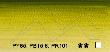 WINSOR & NEWTON ACUARELA ARTISTS VERDE OLIVA (OLIVE GREEN) SERIE 1 Nº 447
