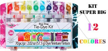 TULIP ONE STEP TIE DYE KIT SUPER BIG CON 12 COLORES