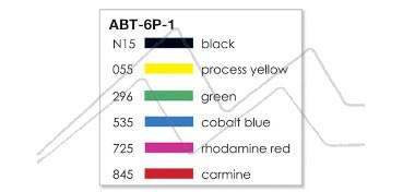 TOMBOW DUAL BRUSH ESTUCHE CON 6 ROTULADORES DE DOBLE PUNTA CON PINCEL COLORES PRIMARIOS ABT-6P-1