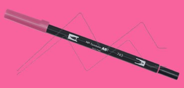 TOMBOW DUAL BRUSH PEN ROTULADOR CON PUNTA DE PINCEL Y PUNTA FINA HOT PINK Nº 743