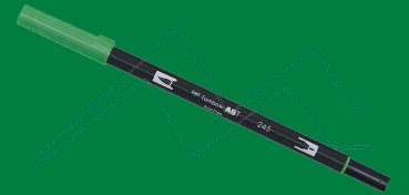 TOMBOW DUAL BRUSH PEN ROTULADOR CON PUNTA DE PINCEL Y PUNTA FINA SAP GREEN Nº 245