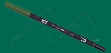 TOMBOW DUAL BRUSH PEN ROTULADOR CON PUNTA DE PINCEL Y PUNTA FINA HUNTER GREEN Nº 249