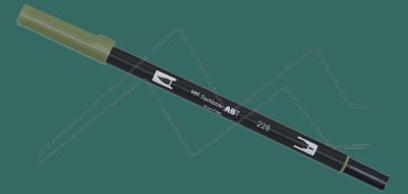 TOMBOW DUAL BRUSH PEN ROTULADOR CON PUNTA DE PINCEL Y PUNTA FINA GREY GREEN Nº 228