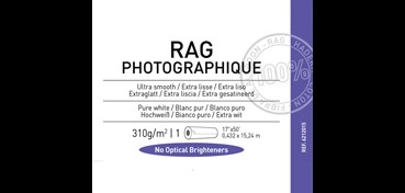 ROLLO CANSON INFINITY RAG PHOTOGRAPH 310G 100% ALGODÓN