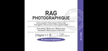 ROLLO CANSON INFINITY RAG PHOTOGRAPH 210G 100% ALGODÓN