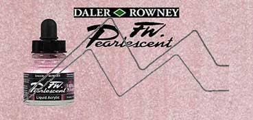 DALER ROWNEY TINTA ACRÍLICA LÍQUIDA FW PEARLESCENT PLATINUM PINK Nº 118