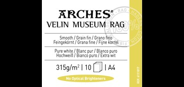CANSON INFINITY ARCHES VELIN MUSEUM RAG 315G 100% ALGODÓN