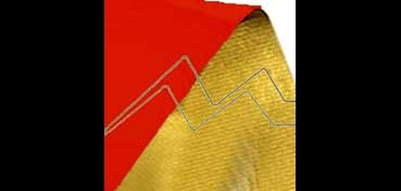 ROLLO KRAFT METALIZADO BICOLOR 0,70 X 2 M ROJO - ORO