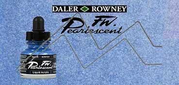 DALER ROWNEY TINTA ACRÍLICA LÍQUIDA FW PEARLESCENT DUTCH BLUE Nº 127