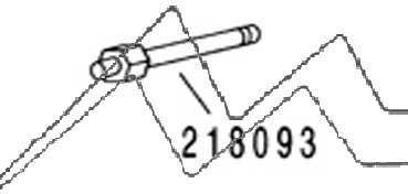DISPOSITIVO DE SUJECIÓN DE LA AGUJA MODELOS 181-281 HANSA H218093