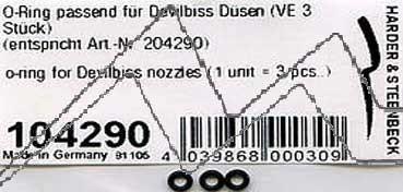 "ANILLO ""O"" PARA CABEZAL MODELOS 481-581-681 (3 UDS.) HANSA H104290"