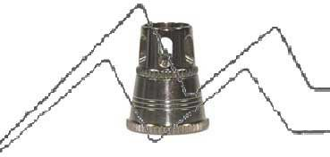 CABEZAL DE AIRE PLATEADO 0.4 MM. MODELOS 481-681 HANSA H218784