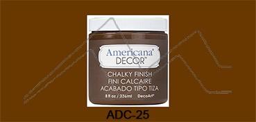 AMERICANA DECOR CHALKY FINISH MARRÓN RÚSTICO ADC-25