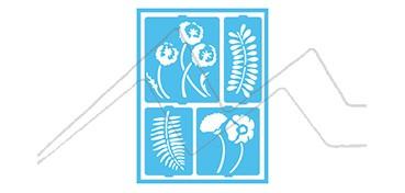 DECOART PLANTILLA AUTOADHESIVA FLORES Y HELECHOS DCPS 03
