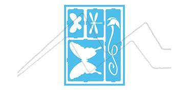 DECOART PLANTILLA AUTOADHESIVA MARIPOSAS Y LIBÉLULAS DCPS 07