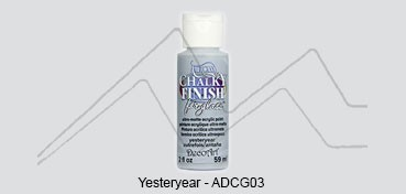AMERICANA CHALKY FINISH FOR GLASS - PINTURA CHALKY PARA CRISTAL YESTERYEAR (GRIS) ADCG-03