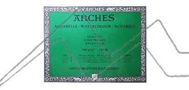 ARCHES BLOC ACUARELA GRANO FINO 300 G 20 HOJAS (COLA 4 LADOS)
