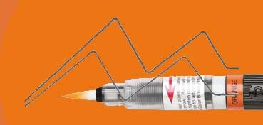 PENTEL COLOUR BRUSH PINCEL NYLON RECARGABLE TINTA NARANJA (GFL-107)