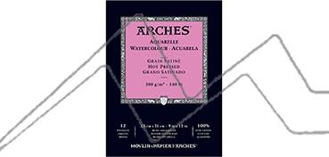 ARCHES BLOC ACUARELA 300 G 12 HOJAS - GRANO SATINADO