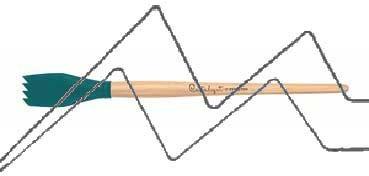 PRINCETON CATALYST PINCEL HOJA DE SILICONA FORMA 2 AZUL 30 MM (30X44MM)