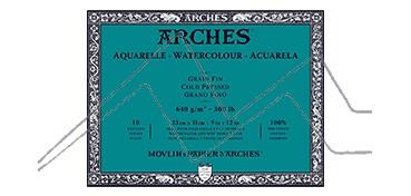 ARCHES BLOC ACUARELA GRANO FINO 640 G 10 HOJAS (COLA 4 LADOS)