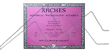 ARCHES BLOC ACUARELA GRANO SATINADO 300 G 20 HOJAS (COLA 4 LADOS)