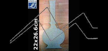 LEFRANC & BOURGEOIS SILUETA DECO 3D VASIJA ALARGADA (22 X 26.6 X 0.5 CM)
