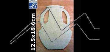 LEFRANC & BOURGEOIS SILUETA DECO 3D ANFORA (12.5 X 18.6 X 0.5CM)