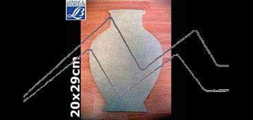 LEFRANC & BOURGEOIS SILUETA DECO 3D VASIJA (20 X 29 X 0.5 CM)