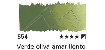 AKADEMIE MEDIO GODET 554 VERDE OLIVA AMARILLENTO