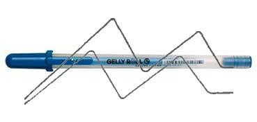 SAKURA GELLY ROLL MOONLIGHT BOLÍGRAFO DE GEL BRILLO EN LA OSCURIDAD AZUL - BLUE - Nº 436