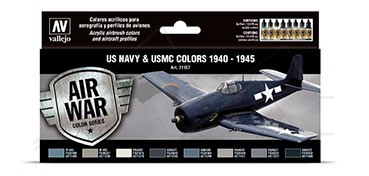 VALLEJO MODEL AIR ESTUCHE DE 8 COLORES WWII USN AIRCRAFT / WWII USN AIRCRAFT