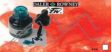 DALER ROWNEY TINTA ACRÍLICA LÍQUIDA FW ARTIST ESCARLATA (SCARLET) Nº 567