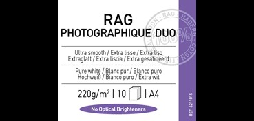 CANSON INFINITY RAG PHOTOGRAPH DUO 220G 100% ALGODÓN