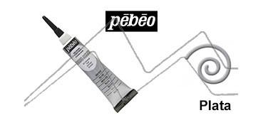 PEBEO CERNE RELIEF PASTA DE RELIEVE EN TUBO PLATA