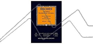 ARCHES BLOC ACUARELA 300 G 12 HOJAS - GRANO GRUESO