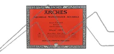 ARCHES BLOC ACUARELA GRANO GRUESO 300 G 20 HOJAS (COLA 4 LADOS)