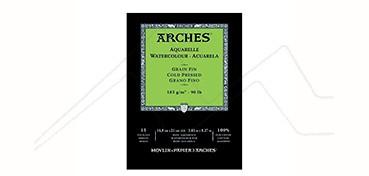 ARCHES BLOC ACUARELA 185 G 15 HOJAS - GRANO FINO