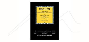 ARCHES BLOC ACUARELA 185 G 15 HOJAS - GRANO GRUESO