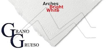 ARCHES PAPEL DE ACUARELA BLANCO BRILLANTE 640 G GRANO GRUESO