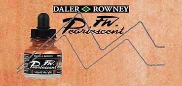 DALER ROWNEY TINTA ACRÍLICA LÍQUIDA FW PEARLESCENT BIRDWING COPPER Nº 111
