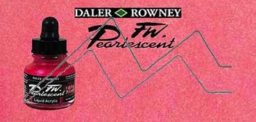 DALER ROWNEY TINTA ACRÍLICA LÍQUIDA FW PEARLESCENT HOT MAMA RED Nº 114
