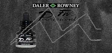 DALER ROWNEY TINTA ACRÍLICA LÍQUIDA FW PEARLESCENT BLACK Nº 032