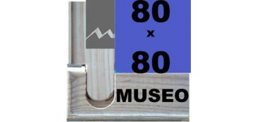 BASTIDOR MUSEO (ANCHO DE LISTÓN 60 X 22) 80 X 80
