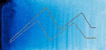 MIJELLO ACUARELA ARTIST MISSION GOLD CLASS AZUL COBALTO NO. 1 - COBALT BLUE NO.1 ( PB29, PB15:3 - LF.5 -  SEMI TRANSPARENTE) SERIE A Nº 542