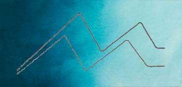 MIJELLO ACUARELA ARTIST MISSION GOLD CLASS AZUL VERDOSO - GREENISH BLUE ( PB15:3, PG36 - LF.5 -  SEMI TRANSPARENTE) SERIE D Nº 609