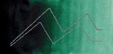 MIJELLO ACUARELA ARTIST MISSION GOLD CLASS VERDE VANDYKE - VAN DYKE GREEN ( PG7, PBR25 - LF.5 -  SEMI TRANSPARENTE) SERIE D Nº 537